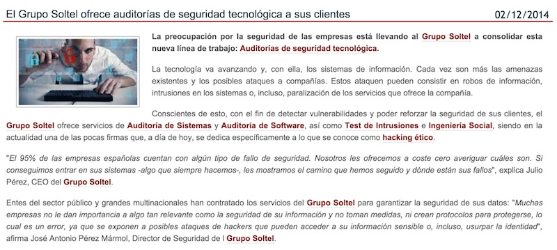 Soltel IT Solutions partner de ProtecLine Sevilla